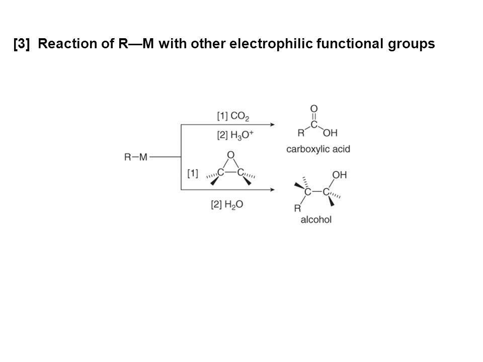 [3] Reaction of R—M with other electrophilic functional groups
